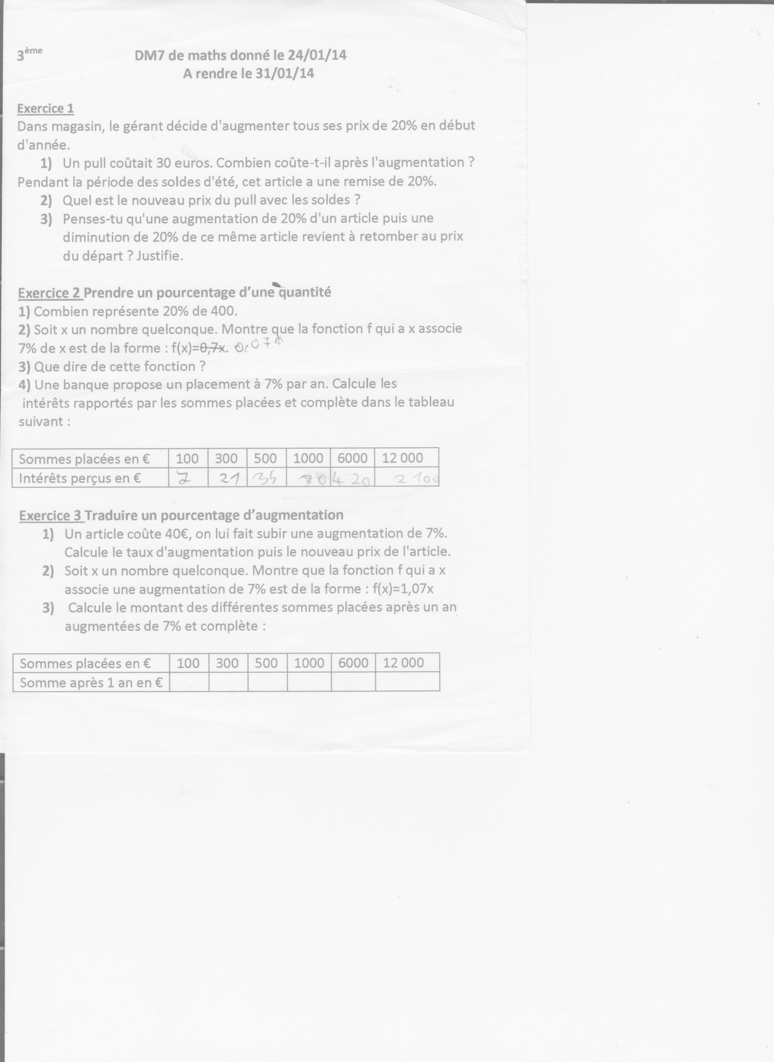 Calculer Les Pourcentages Digischool Devoirs