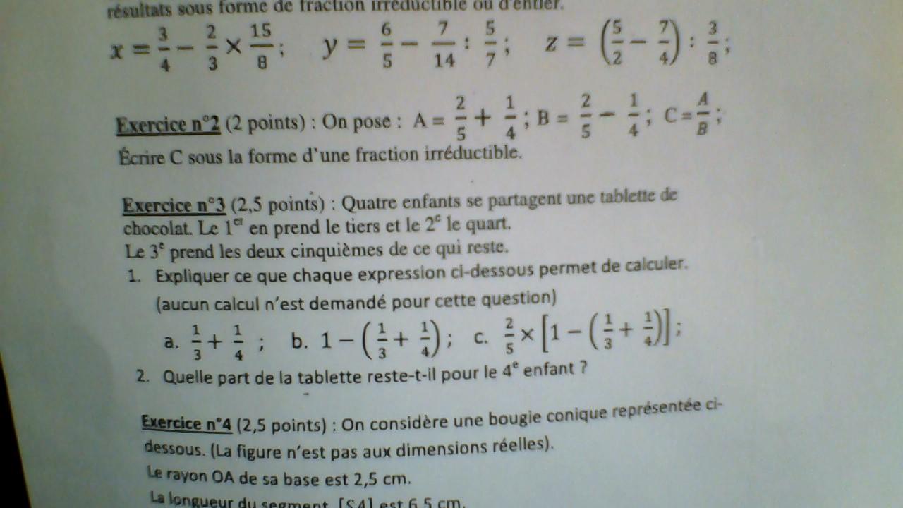 dm mathematique 3eme