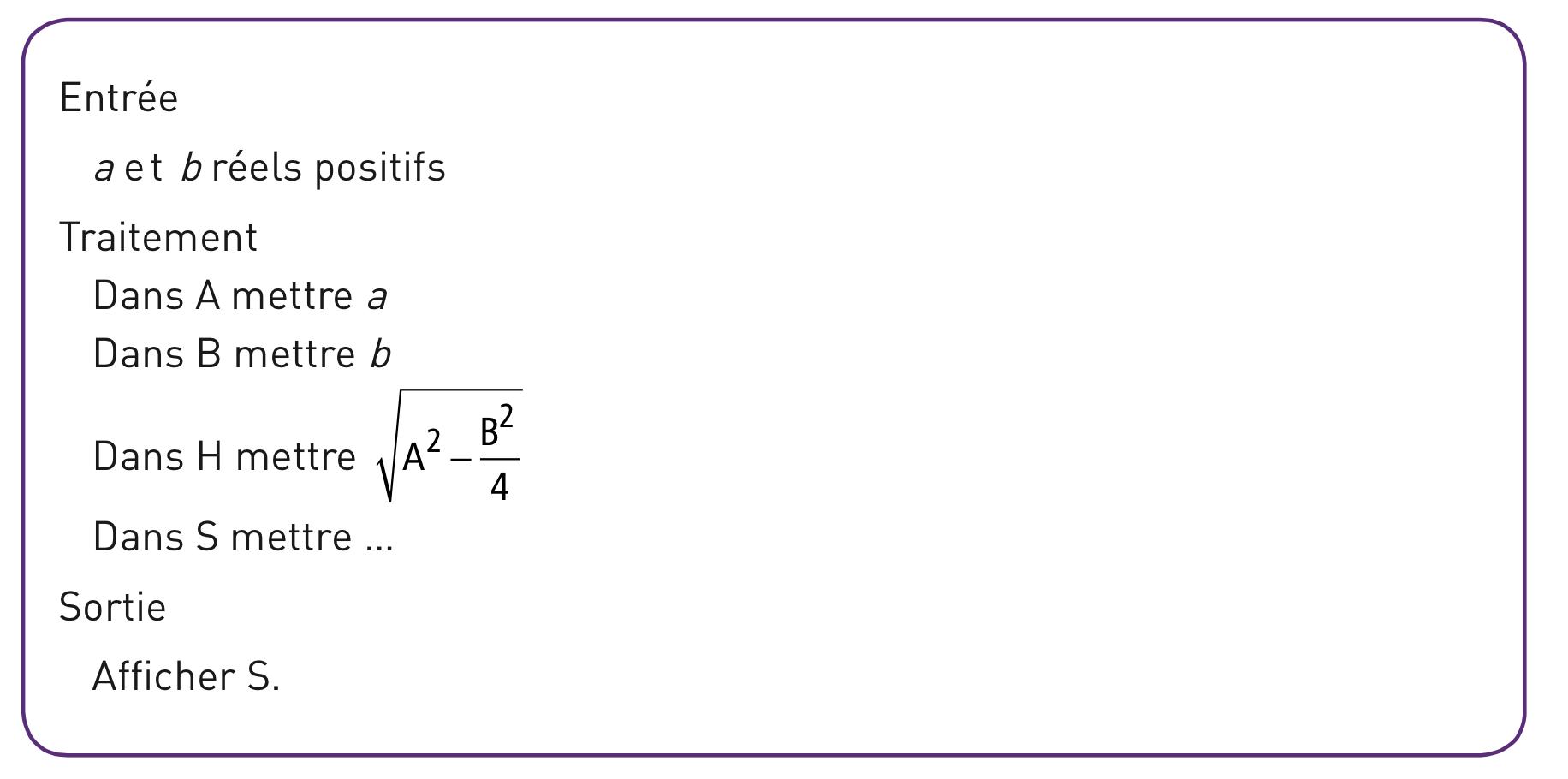 Exo CNED n°1 MATH : Fonctions _ Algorithmes. 2nde Mathématiques