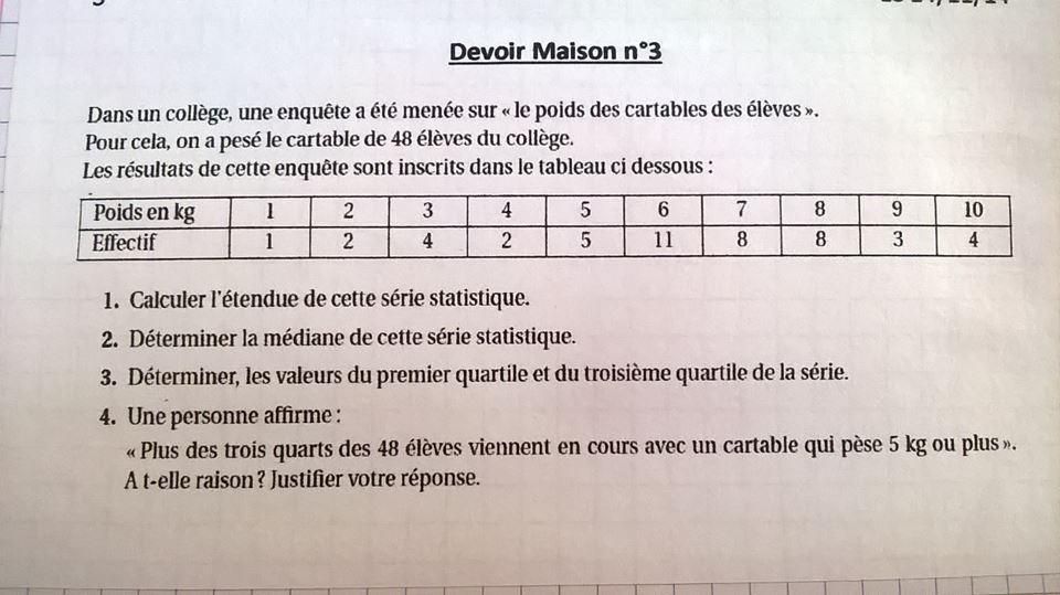 reponse dm de math 3eme