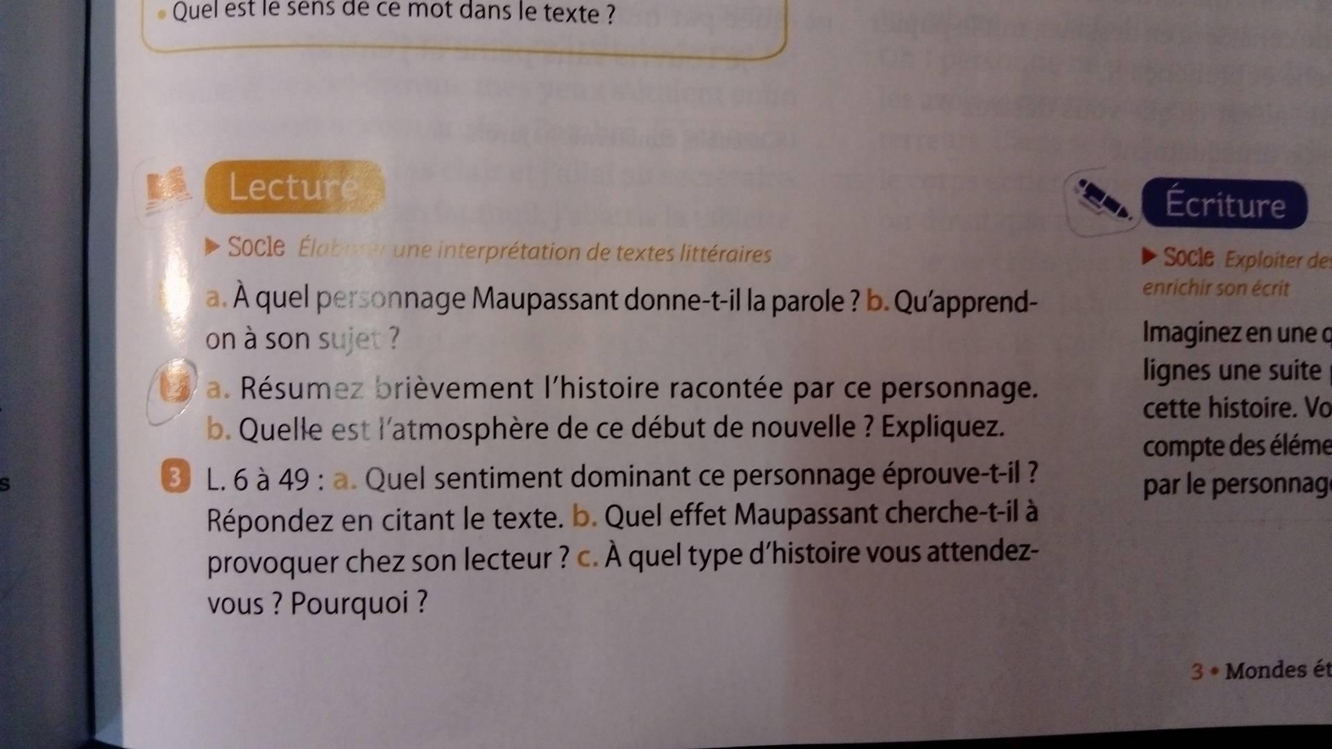 Les Questions En Francais 4e Fleurs D Encre 4 Cycle